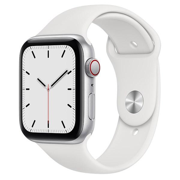 Apple Watch SE LTE 44mm viền nhôm dây cao su trắng