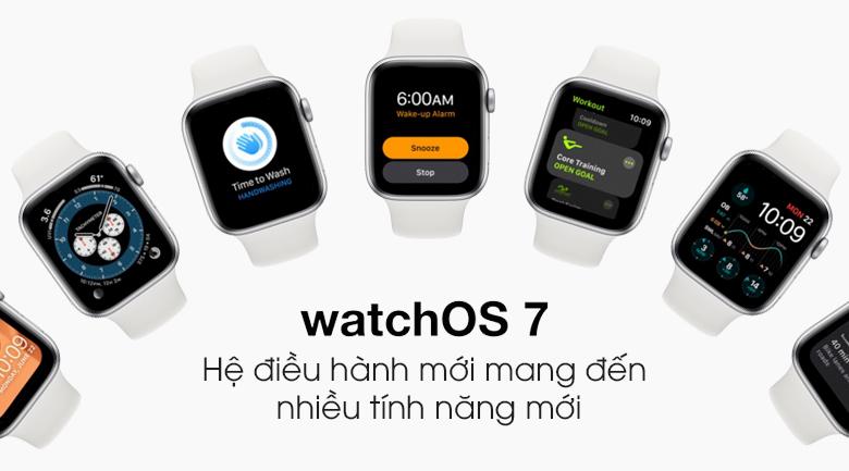 Đồng hồ Apple Watch SE LTE 44 mm sử dụng hệ điều hành WatchOS 7 được nâng cấp thêm nhiều tính năng hữu ích