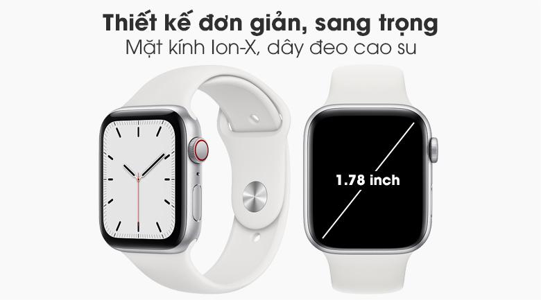 Đồng hồ Apple Watch SE LTE 44 mm với thiết kế sang trọng, hiện đại