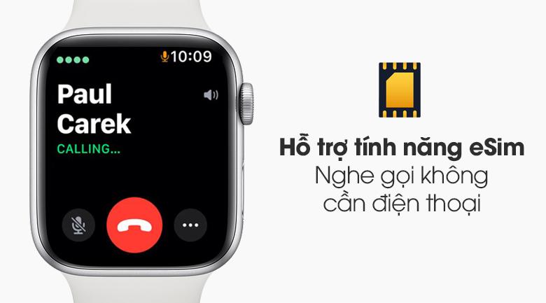 Đồng hồ Apple Watch SE LTE 44 mm có thể trang bị eSim để hoạt động độc lập
