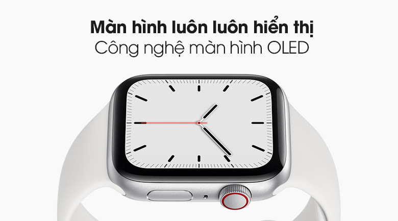 Đồng hồ Apple Watch SE LTE 44 mm có màn hình OLED đạt tiêu chuẩn Retina