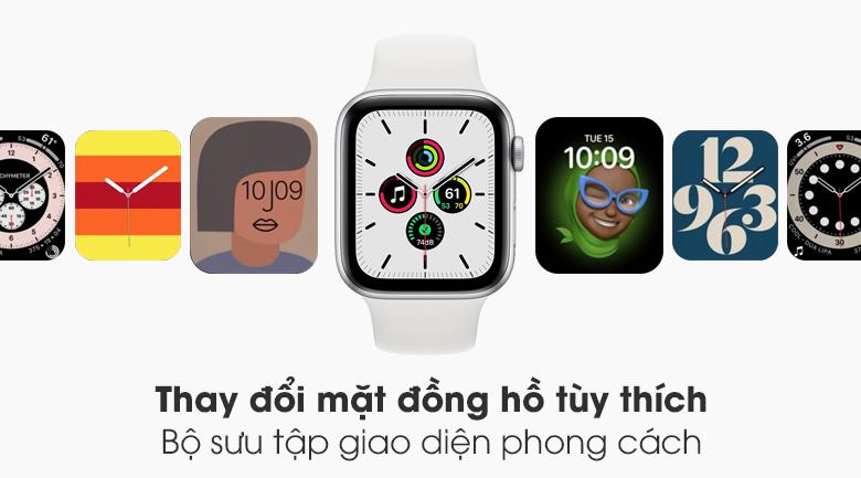 Đồng hồ Apple Watch SE LTE 44 mm có bộ sưu tập mặt đồng hồ đa dạng, phong cách