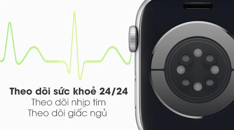 Đồng hồ Apple Watch SE LTE 44 mm trang bị nhiều tính năng theo dõi sức khỏe