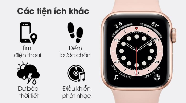Apple Watch S6 LTE 40mm viền nhôm dây cao su hồng - thêm nhiều tiện ích
