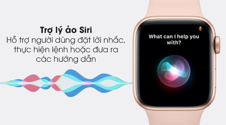 Apple Watch S6 LTE 40mm viền nhôm dây cao su hồng - trợ lý ảo Siri
