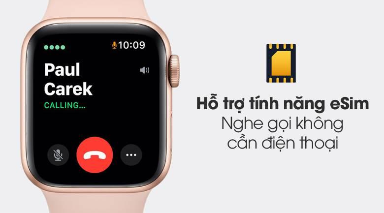 Apple Watch S6 LTE 40mm viền nhôm dây cao su hồng - eSim