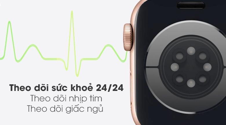 Apple Watch S6 LTE 40mm viền nhôm dây cao su hồng - theo dõi sức khỏe tốt hơn