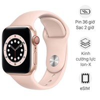 Apple Watch S6 LTE 40mm viền nhôm dây cao su hồng