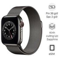 Apple Watch S6 LTE 40mm viền thép dây thép đen