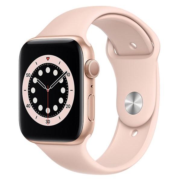Apple Watch S6 44mm viền nhôm dây cao su hồng