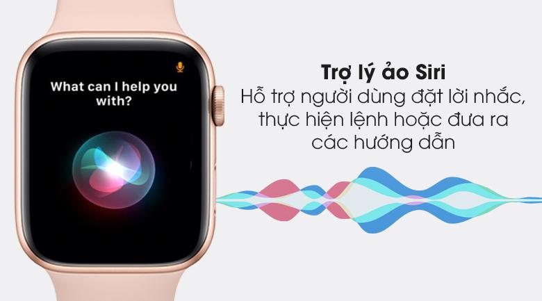 Apple Watch S6 44mm viền nhôm dây cao su hồng hỗ trợ người dùng tốt hơn với trợ lý ảo Siri
