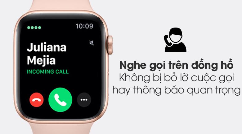 Apple Watch S6 44mm viền nhôm dây cao su hồng có tính năng nghe gọi ngay trên đồng hồ
