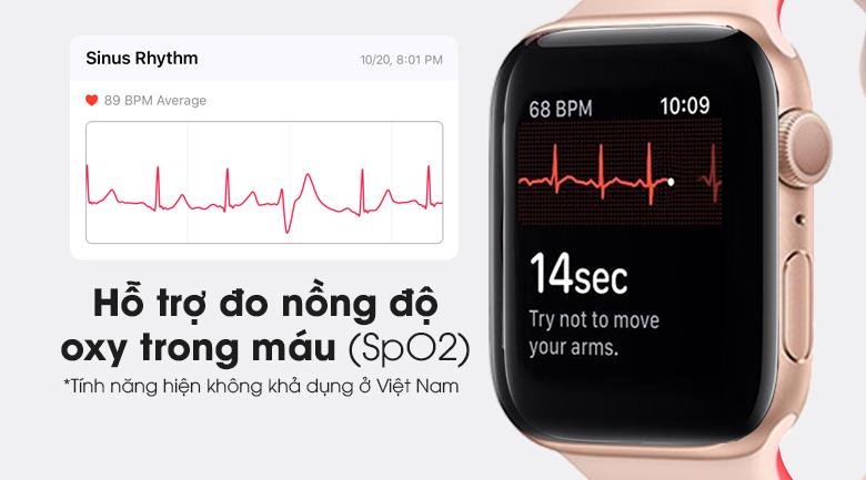 Apple Watch S6 44mm viền nhôm dây cao su hồng nổi bật với tính năng đo nồng độ Oxy trong máu