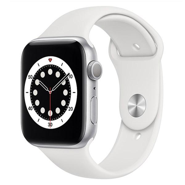 Apple Watch S6 40mm viền nhôm dây cao su trắng