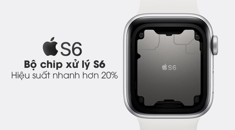 Apple Watch S6 40mm viền nhôm dây cao su trắng sử dụng Chip xử lý S6
