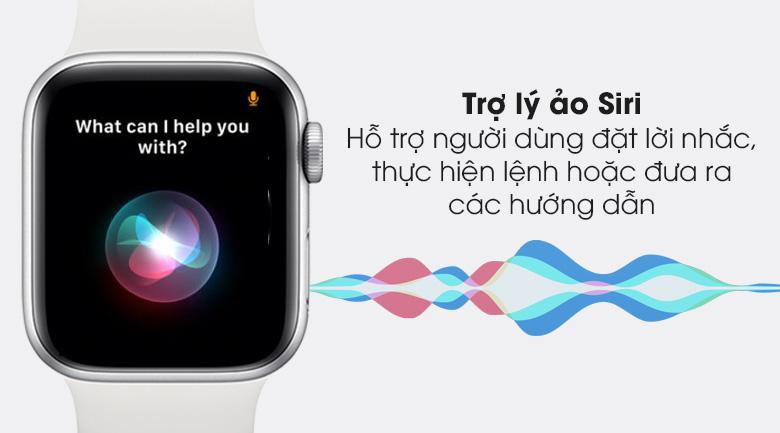 Apple Watch S6 40mm viền nhôm dây cao su trắng cùng trợ lý ảo thông minh Siri
