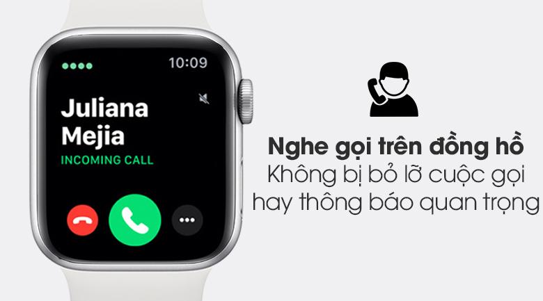 Apple Watch S6 40mm viền nhôm dây cao su trắng kết nối và nhận thông báo nhanh chóng