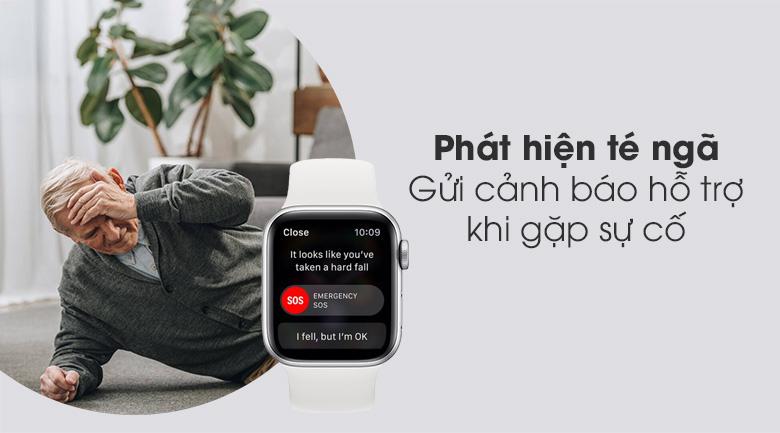 Apple Watch S6 40mm viền nhôm dây cao su trắng giúp phát hiện té ngã