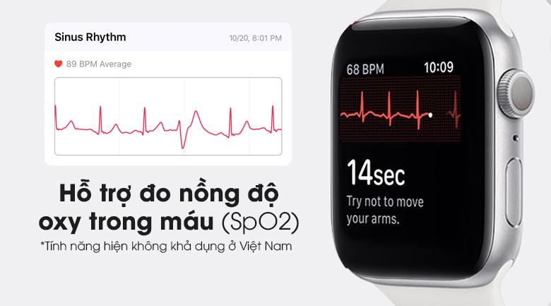 Apple Watch S6 40mm viền nhôm dây cao su trắng giúp theo dõi sức khỏe tốt hơn