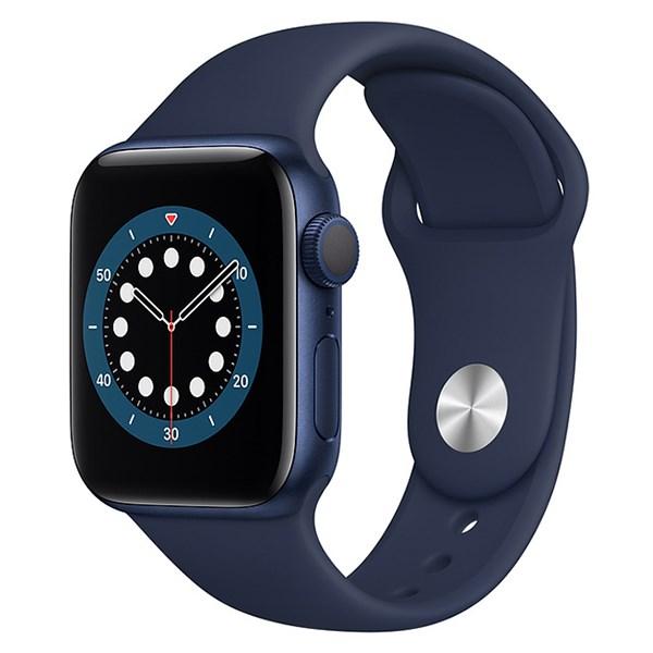 Apple Watch S6 40mm viền nhôm dây cao su xanh
