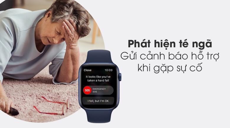Apple Watch S6 40mm viền nhôm dây cao su xanh có thể phát hiện té ngã