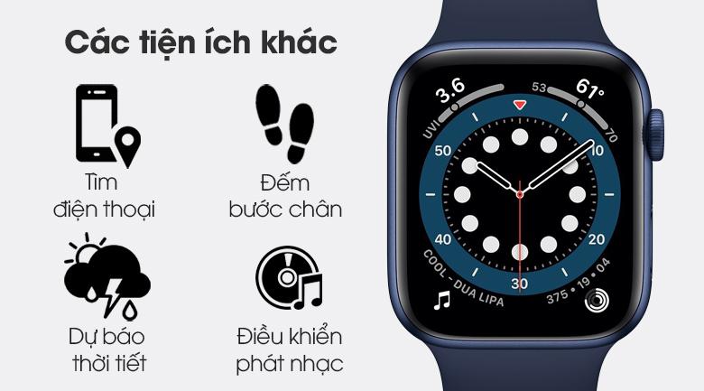 Apple Watch S6 40mm viền nhôm dây cao su xanh còn nhiều tính năng hữu ích khác