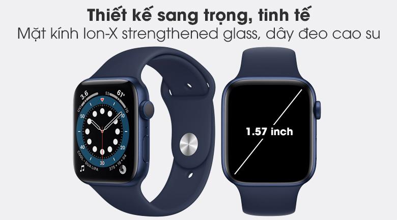 Apple Watch S6 40mm viền nhôm dây cao su xanh có thiết kế sang trọng