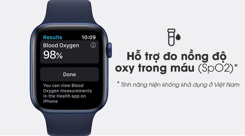 Apple Watch S6 40mm viền nhôm dây cao su xanh giúp theo dõi sức khỏe tốt hơn