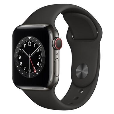 Apple Watch S6 LTE 40mm viền thép dây cao su đen
