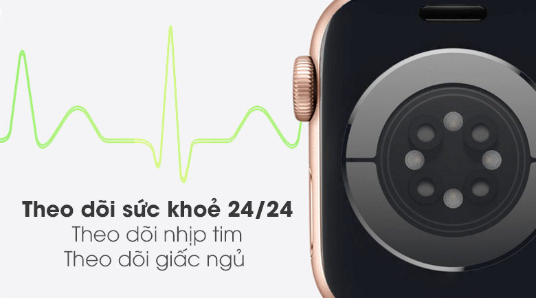 Apple Watch SE 40mm viền nhôm dây cao su hồng - theo dõi sức khỏe