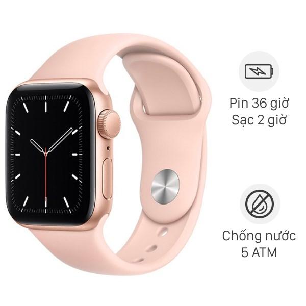 Apple Watch SE 40mm viền nhôm dây cao su