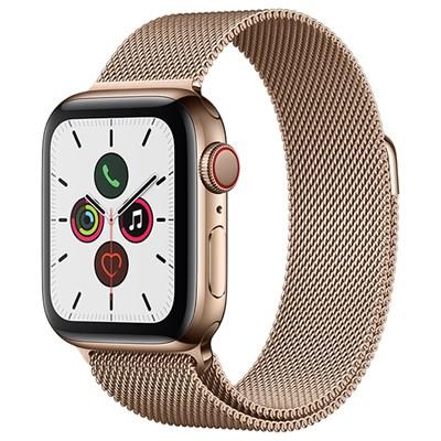 Apple Watch S5 LTE 40mm viền thép dây thép vàng