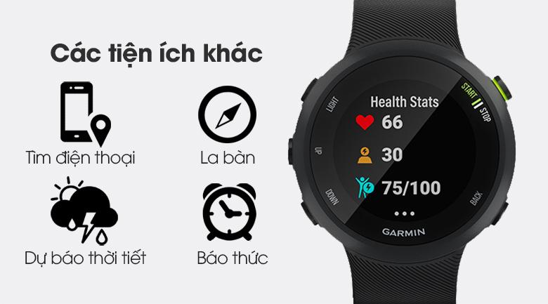 Đồng hồ thông minh Garmin Forerunner 45 dây silicone đen có nhiều tiện ích khác