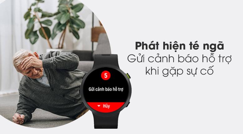 Đồng hồ thông minh Garmin Forerunner 45 dây silicone đen có chức năng phát hiện té ngã