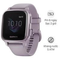 Đồng hồ thông minh Garmin Venu SQ dây silicone tím