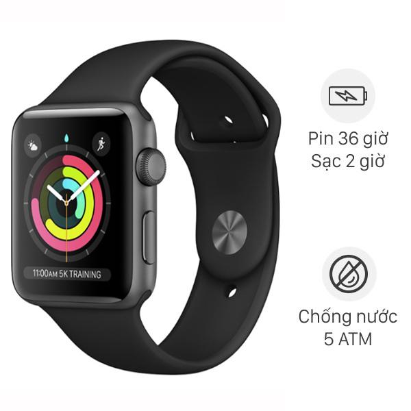 Apple Watch S3 GPS 38mm viền nhôm dây cao su