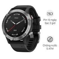 Đồng hồ thông minh Garmin Fenix 6 dây silicone đen