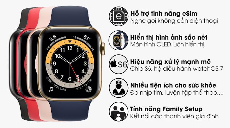 Apple Watch S6 LTE 40mm xanh dương