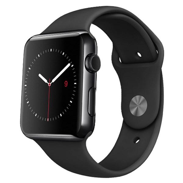Apple Watch S1 42mm viền nhôm dây cao su đen