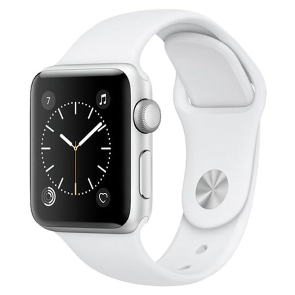 Apple Watch S1 38mm viền nhôm dây cao su trắng