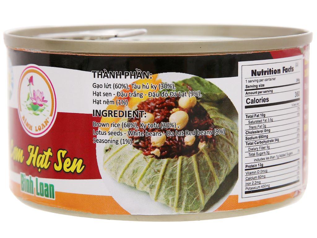 Cơm hạt sen Bình Loan hộp 200g 3