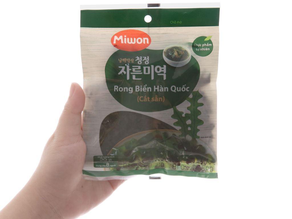 Rong biển Hàn Quốc cắt sẵn Miwon 20g 4