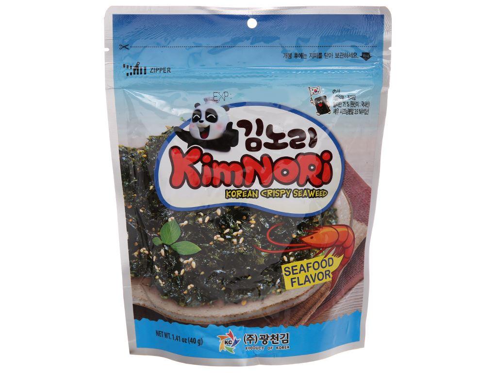 Rong biển ăn liền tẩm mè KimNoRi vị hải sản 40g 2