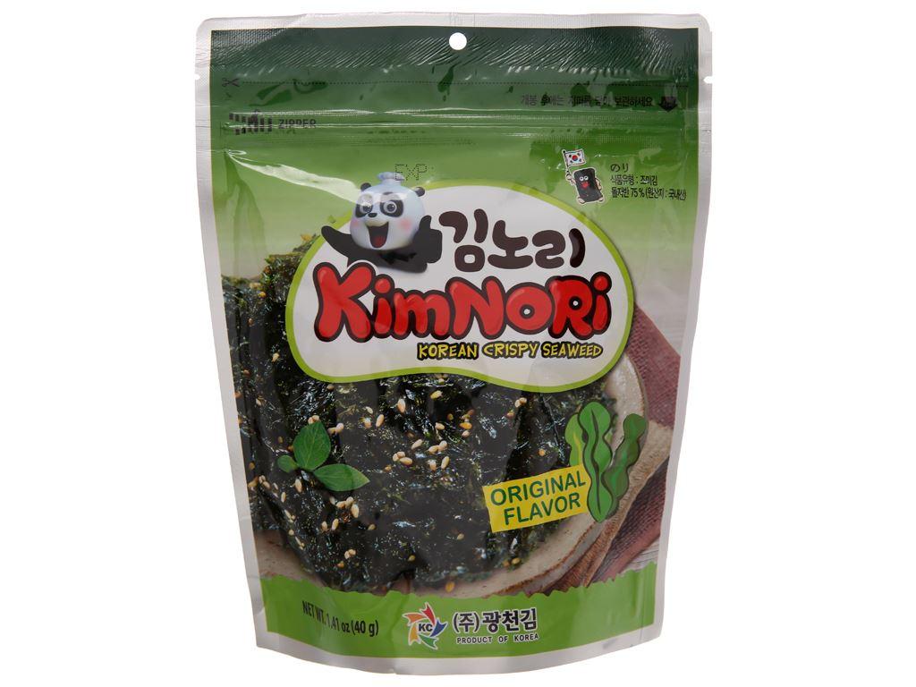 Rong biển ăn liền KimNoRi vị truyền thống 40g 2