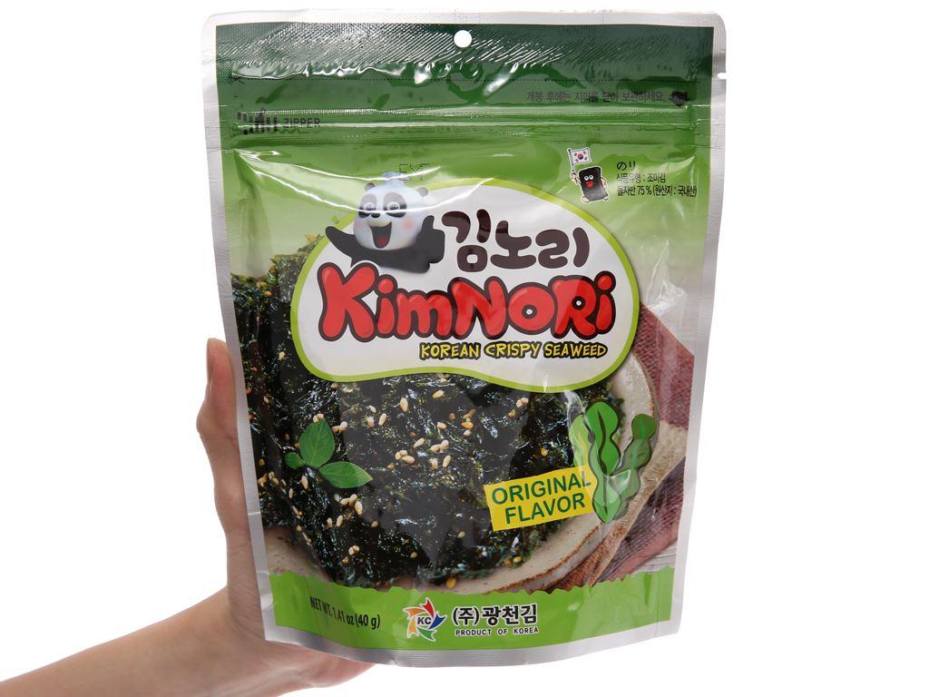 Rong biển ăn liền KimNoRi vị truyền thống 40g 4