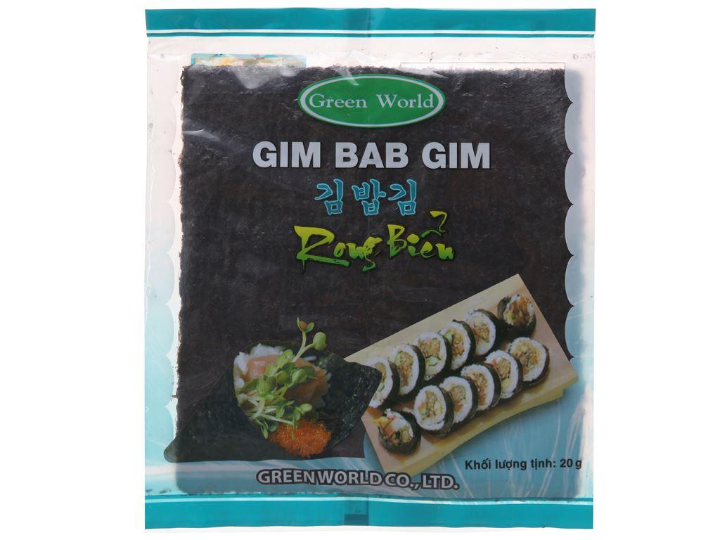 Rong biển cuộn cơm Green World vị truyền thống 20g 2