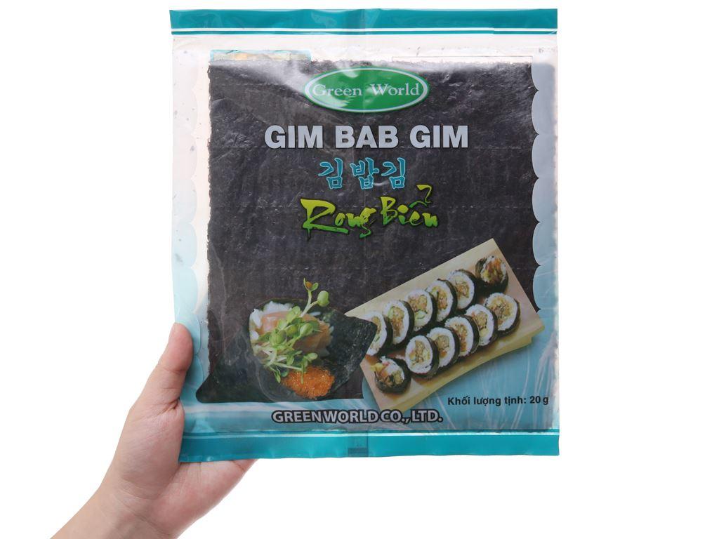 Rong biển cuộn cơm Green World vị truyền thống 20g 5