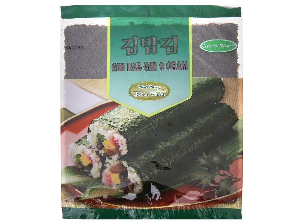 Rong biển cuộn cơm Green World vị truyền thống 9g 2