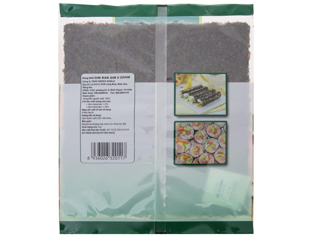 Rong biển cuộn cơm Green World vị truyền thống 9g 3
