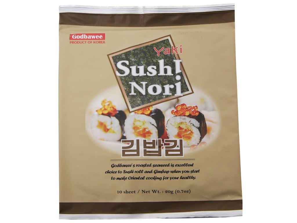 Rong biển cuộn cơm Godbawee 20g 2